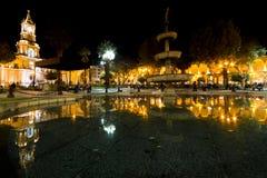 Αντανακλάσεις Plaze de Armas σε Arequipa Στοκ εικόνα με δικαίωμα ελεύθερης χρήσης