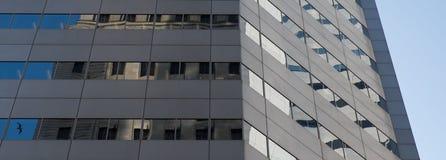 Αντανακλάσεις κτιρίου γραφείων με το πουλί Στοκ εικόνα με δικαίωμα ελεύθερης χρήσης