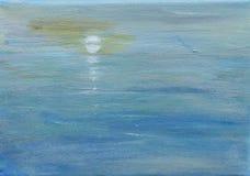 Αντανακλάσεις, φεγγάρι και θάλασσα Στοκ Φωτογραφία