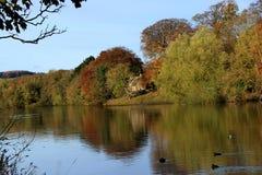 Αντανακλάσεις όχθεων ποταμού φθινοπώρων Στοκ φωτογραφία με δικαίωμα ελεύθερης χρήσης