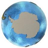 Ανταρκτική ήπειρος στη γη Στοκ Φωτογραφία