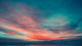 Ανταρκτική φύση Όμορφος ζωηρόχρωμος νεφελώδης ουρανός ηλιοβασιλέματος απόθεμα βίντεο
