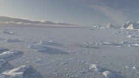 Ανταρκτικός ωκεάνιος παγωμένος ακτή παράτολμος εναέριος πυροβολισμός πάγου απόθεμα βίντεο