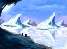 Παγόβουνο στην Ανταρκτική Στοκ Εικόνα