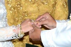 Ανταλλαγή δαχτυλιδιών στοκ φωτογραφίες με δικαίωμα ελεύθερης χρήσης