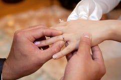Ανταλλαγή δαχτυλιδιών Στοκ Φωτογραφίες