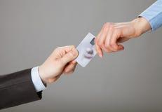 Ανταλλαγή πιστωτικών καρτών Στοκ Φωτογραφίες