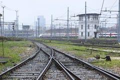 Ανταλλαγή σιδηροδρόμων στοκ φωτογραφία με δικαίωμα ελεύθερης χρήσης