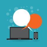 Ανταλλαγή συνομιλίας συσκευών Στοκ εικόνα με δικαίωμα ελεύθερης χρήσης