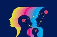 Ανταλλαγή της έννοιας ιδέας διανυσματική απεικόνιση