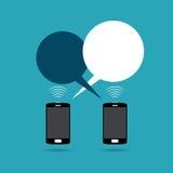 Ανταλλαγή τηλεφωνικής συνομιλίας Στοκ εικόνα με δικαίωμα ελεύθερης χρήσης