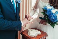 Ανταλλαγή των δαχτυλιδιών Στοκ Εικόνα