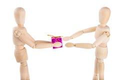 ανταλλαγή των δώρων Στοκ φωτογραφία με δικαίωμα ελεύθερης χρήσης