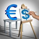 Ανταλλαγή χρημάτων απεικόνιση αποθεμάτων