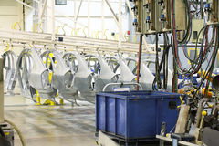 Ανταλλακτικά σε ένα εργοστάσιο αυτοκινήτων Στοκ φωτογραφίες με δικαίωμα ελεύθερης χρήσης
