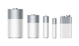 Αντιαεροπορικό Πυροβολικό αλκαλικών μπαταριών, AA, Γ, Δ, PP3, μπαταρία 9 βολτ απεικόνιση αποθεμάτων