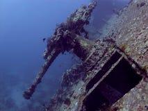 Αντιαεροπορικό πυροβόλο όπλο από τα συντρίμμια SS Thistlegorm στοκ φωτογραφία με δικαίωμα ελεύθερης χρήσης