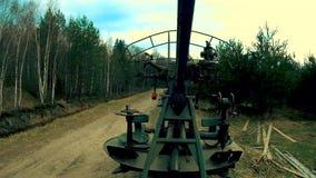 Αντιαεροπορικό πυροβόλο όπλο των στρατευμάτων πυροβολικού απόθεμα βίντεο