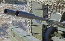 αντιαεροπορικό πυροβόλο όπλο 23mm Στοκ εικόνες με δικαίωμα ελεύθερης χρήσης