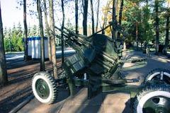 Αντιαεροπορικό πυροβόλο όπλο στοκ εικόνες