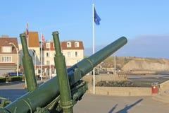 Αντιαεροπορικό πυροβόλο όπλο, Arromanches, Γαλλία Στοκ Εικόνες