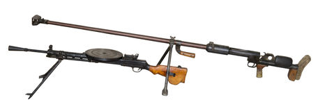 Αντιαρματικά πυροβόλο όπλο και πολυβόλο Degtyaryov Στοκ Φωτογραφία