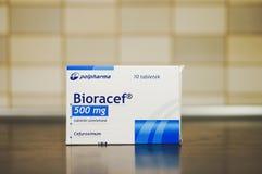 Αντιβιοτικά χάπια Bioracef Στοκ Φωτογραφία