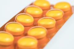 Αντιβιοτική κάψα φαρμάκων επιτροπής Στοκ Φωτογραφίες