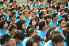 Αντιδιαβρωτική συνάθροιση στη Μπανγκόκ στοκ φωτογραφία με δικαίωμα ελεύθερης χρήσης