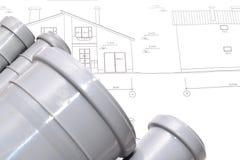 Αντικατάσταση των εξαρτημάτων υδραυλικών στοκ φωτογραφίες