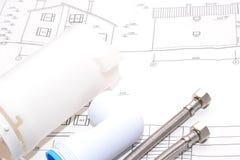 Αντικατάσταση των εξαρτημάτων υδραυλικών engineering στοκ εικόνα