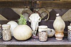 Αντικείμενα για τις περιόδους και witchcraft Στοκ Φωτογραφίες