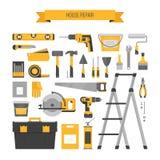 Αντικείμενα εγχώριας επισκευής καθορισμένα Εργαλεία onstruction Ð ¡ Εργαλεία χεριών για το hom Ελεύθερη απεικόνιση δικαιώματος