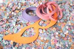 Αντικείμενα καρναβαλιού Στοκ εικόνα με δικαίωμα ελεύθερης χρήσης