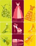 αντικείμενα μόδας που τίθ&e Στοκ Εικόνες