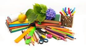 Αντικείμενα λουλουδιών και σχολείων Hydrangea. Στοκ φωτογραφίες με δικαίωμα ελεύθερης χρήσης