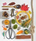 Αντικείμενα προτύπων συλλογής φθινοπώρου Στοκ εικόνες με δικαίωμα ελεύθερης χρήσης