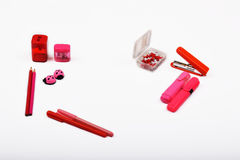 Αντικείμενα σχεδιαγράμματος που απομονώνονται στο θέμα - ημέρα βαλεντίνων ` s Στοκ φωτογραφία με δικαίωμα ελεύθερης χρήσης