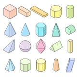 Αντικείμενα Colorfull κρητιδογραφιών στο άσπρο υπόβαθρο Στοκ εικόνα με δικαίωμα ελεύθερης χρήσης
