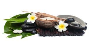 Αντικείμενα SPA για τη θεραπεία με το κερί στοκ εικόνα με δικαίωμα ελεύθερης χρήσης