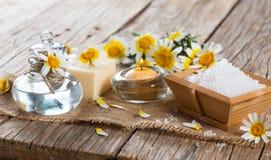 Αντικείμενο θέματος SPA chamomile Στοκ εικόνες με δικαίωμα ελεύθερης χρήσης