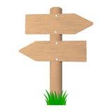 αντικείμενο πέρα από άσπρο ξύλινο πινακίδων επίσης corel σύρετε το διάνυσμα απεικόνισης Στοκ Φωτογραφία