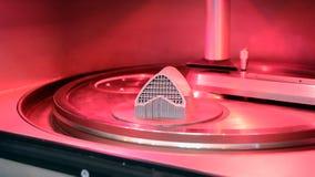 Αντικείμενο που τυπώνεται από τη σκόνη μετάλλων στον τρισδιάστατο εκτυπωτή μετάλλων, λειτουργώντας αίθουσα φιλμ μικρού μήκους