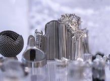 Αντικείμενο που τυπώνεται από τη σκόνη μετάλλων στον τρισδιάστατο εκτυπωτή μετάλλων στοκ φωτογραφίες