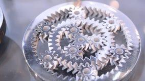 Αντικείμενο που τυπώνεται στην τρισδιάστατη κινηματογράφηση σε πρώτο πλάνο εκτυπωτών μετάλλων απόθεμα βίντεο