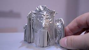 Αντικείμενο που τυπώνεται στον τρισδιάστατο εκτυπωτή μετάλλων απόθεμα βίντεο