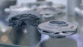 Αντικείμενο που τυπώνεται στον τρισδιάστατο εκτυπωτή μετάλλων r απόθεμα βίντεο