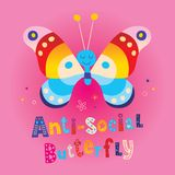 Αντικοινωνική πεταλούδα στοκ εικόνα