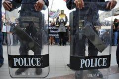 Αντικυβερνητική διαμαρτυρία «άσπρων μασκών» στη Μπανγκόκ Στοκ Φωτογραφίες