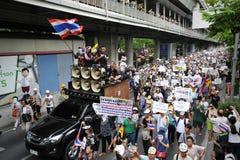 Αντικυβερνητική διαμαρτυρία «άσπρων μασκών» στη Μπανγκόκ Στοκ Εικόνες
